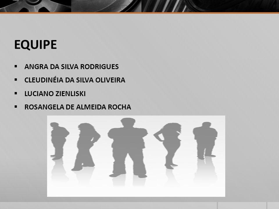 EQUIPE ANGRA DA SILVA RODRIGUES CLEUDINÉIA DA SILVA OLIVEIRA LUCIANO ZIENLISKI ROSANGELA DE ALMEIDA ROCHA