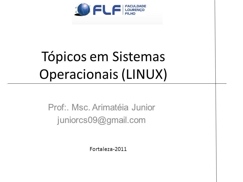 Tópicos em Sistemas Operacionais (LINUX) Prof:. Msc. Arimatéia Junior juniorcs09@gmail.com Fortaleza-2011