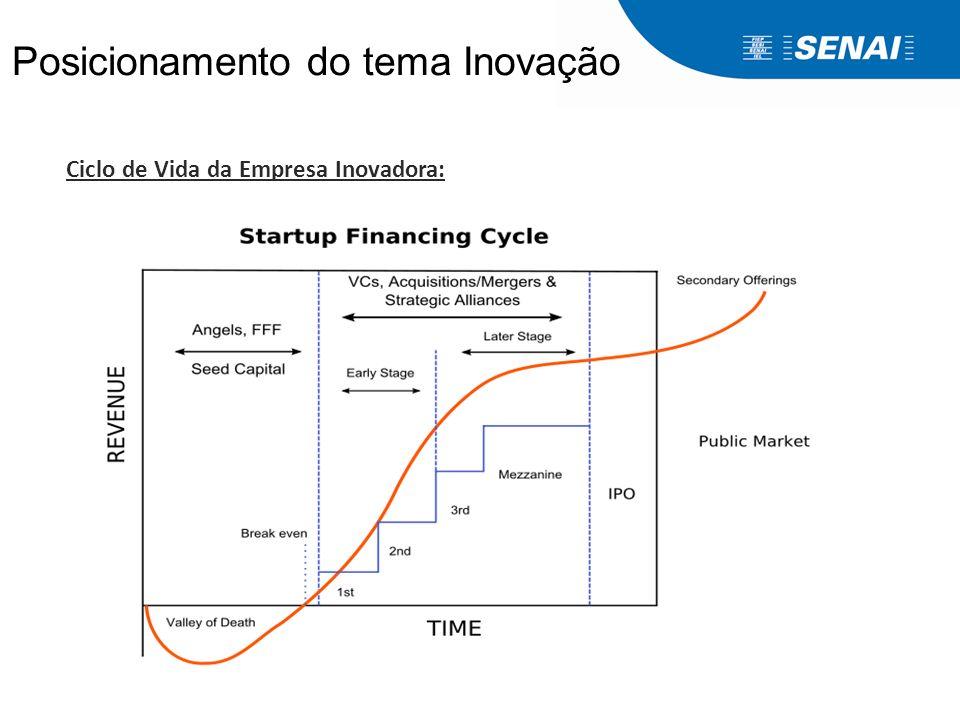 Ciclo de Vida da Empresa Inovadora: Posicionamento do tema Inovação