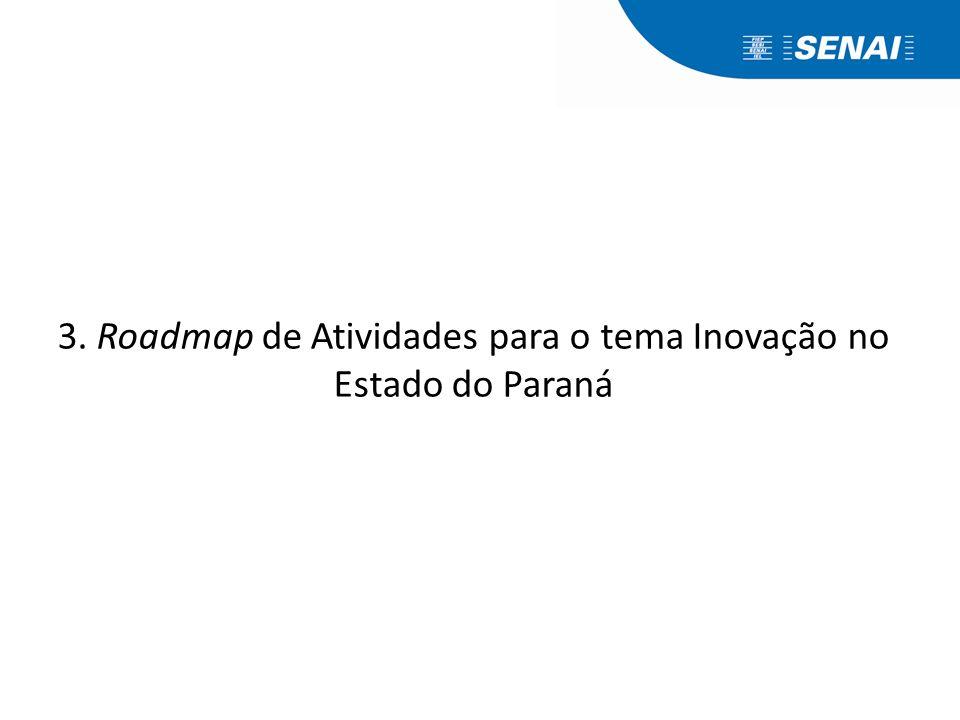 3. Roadmap de Atividades para o tema Inovação no Estado do Paraná