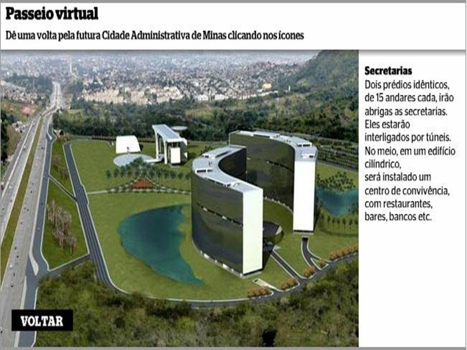 Em dezembro, Aécio deverá inaugurar a maior, e mais ousada edificação da história de Minas: um majestoso palácio governamental suspenso, dentro de um