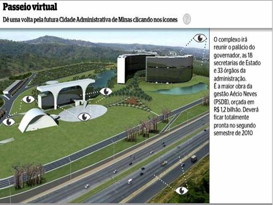 Isso aqui vai ficar fantástico, diz Otávio Neiva, subgerente de Controle de Obras da futura Cidade Administrativa de Minas Gerais. Vai ter uma prefeit