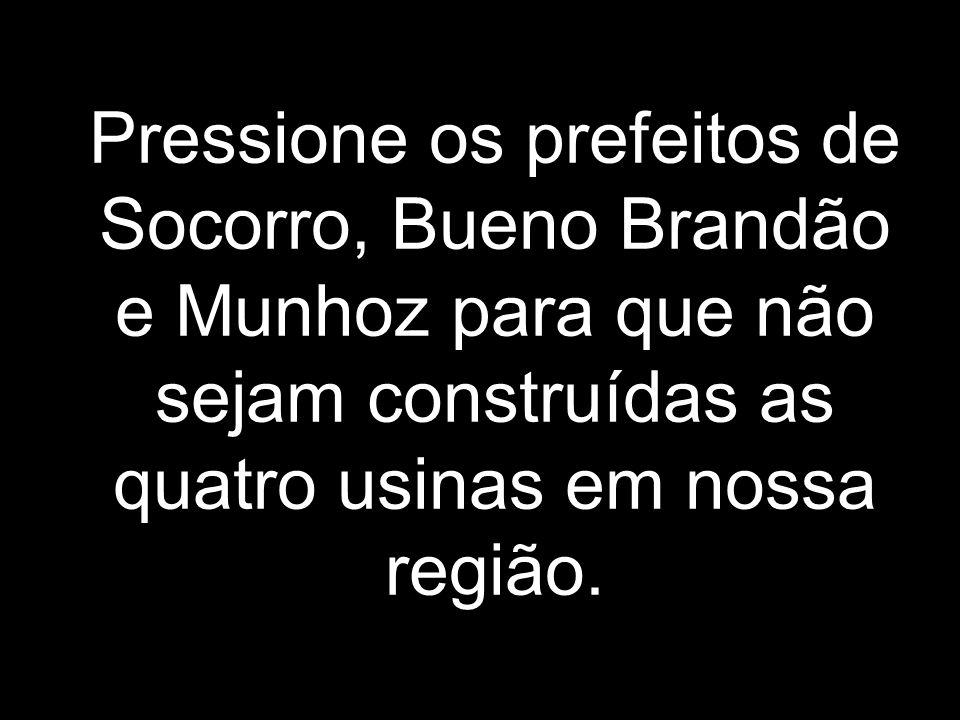 Essa é uma homenagem ao Complexo de Cachoeira do Limoeiro Bueno Brandão – MG / Socorro – SP Que se você não fizer nada, ainda este ano deixará de existir.
