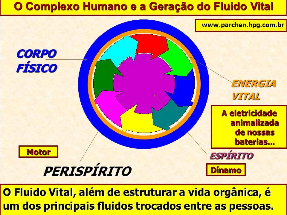 ESPÍRITO PERISPÍRITO CORPOFÍSICO ENERGIAVITAL O Complexo Humano e a Geração do Fluido Vital O Fluido Vital, além de estruturar a vida orgânica, é um d