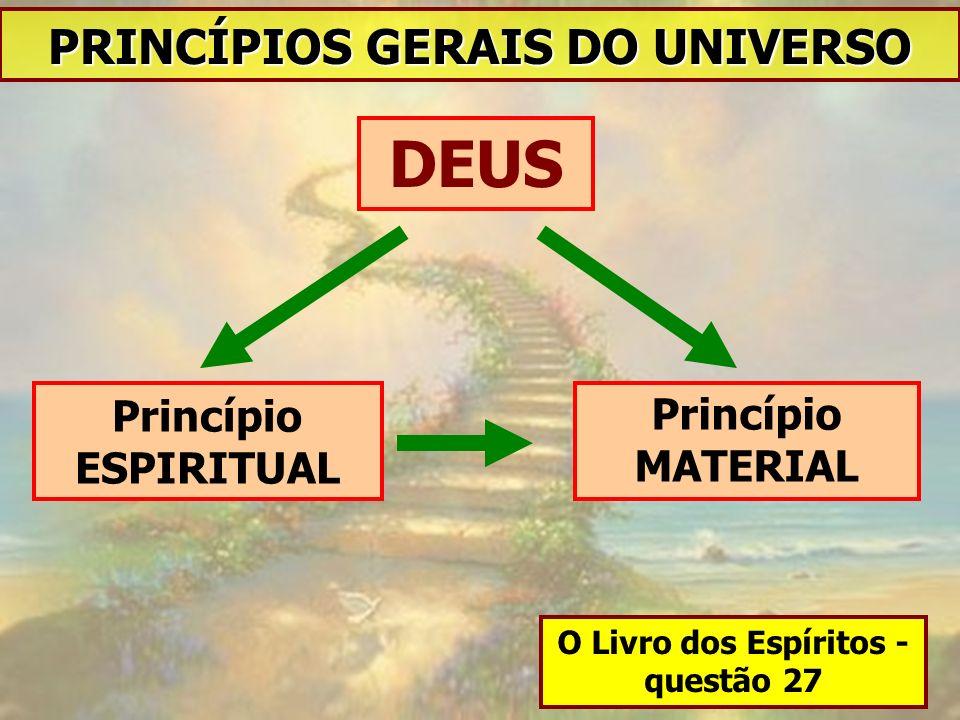 DEUS Princípio MATERIAL Princípio ESPIRITUAL PRINCÍPIOS GERAIS DO UNIVERSO O Livro dos Espíritos - questão 27