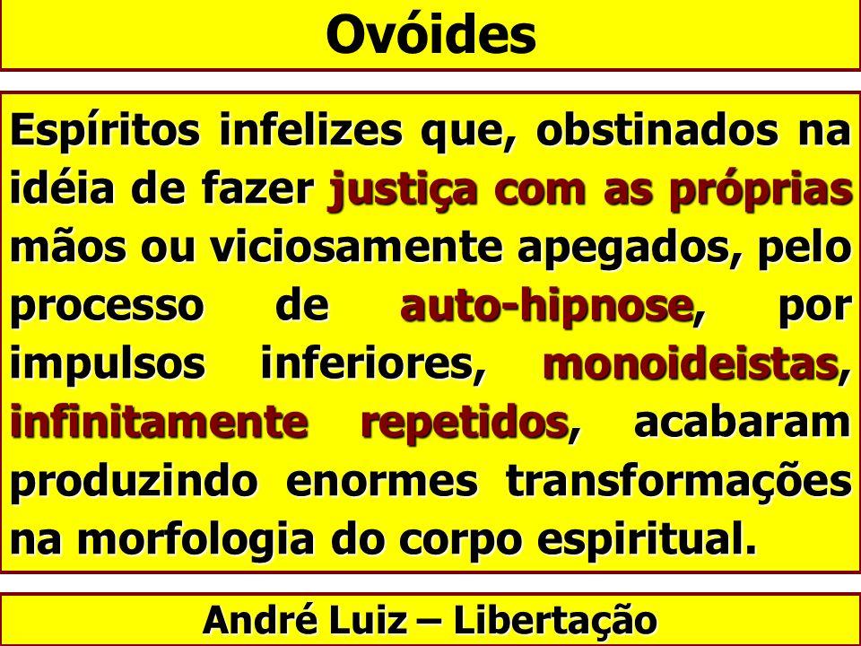 Espíritos infelizes que, obstinados na idéia de fazer justiça com as próprias mãos ou viciosamente apegados, pelo processo de auto-hipnose, por impuls