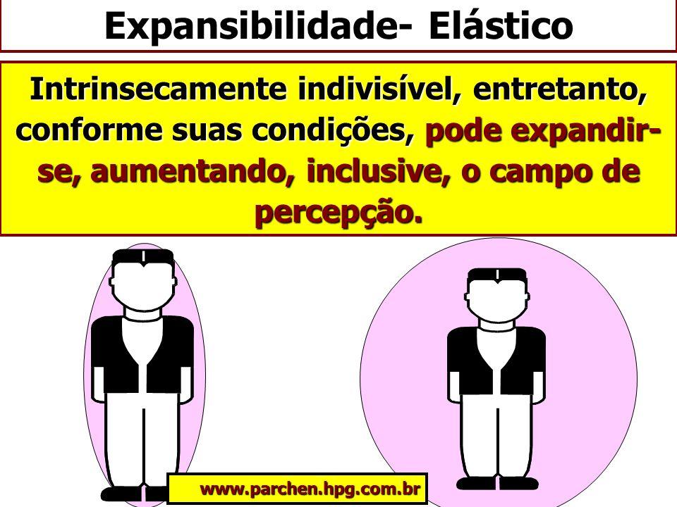 Intrinsecamente indivisível, entretanto, conforme suas condições, pode expandir- se, aumentando, inclusive, o campo de percepção. Expansibilidade- Elá