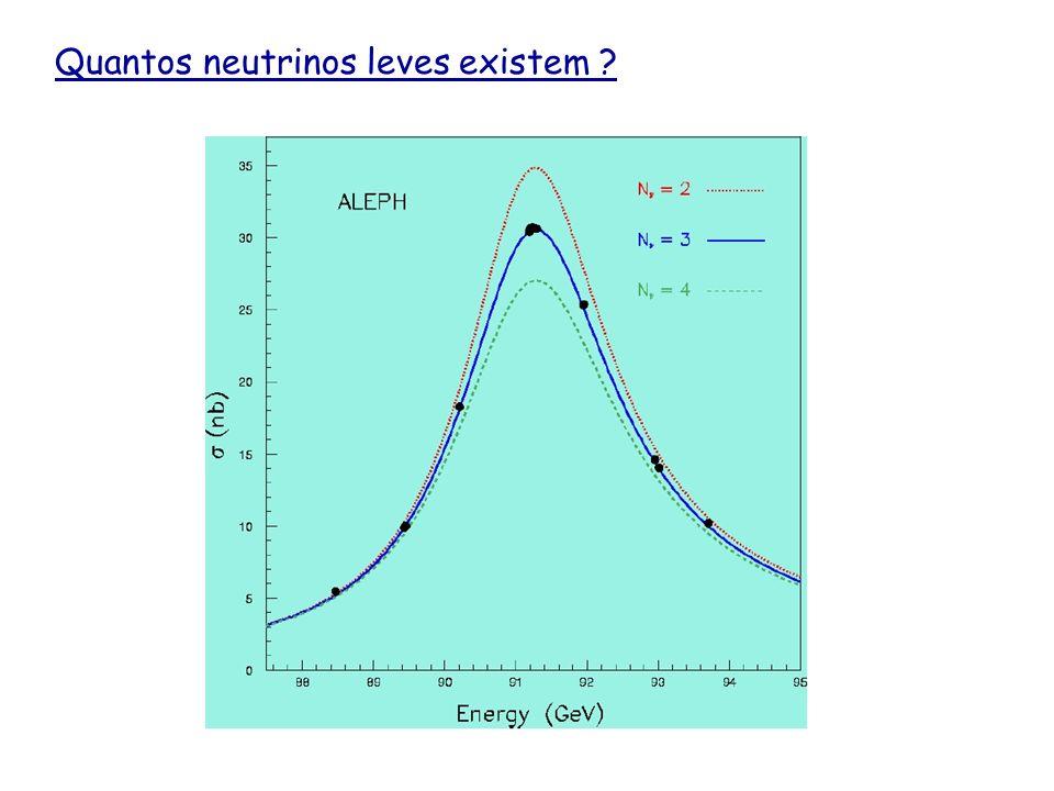 Quantos neutrinos leves existem ?