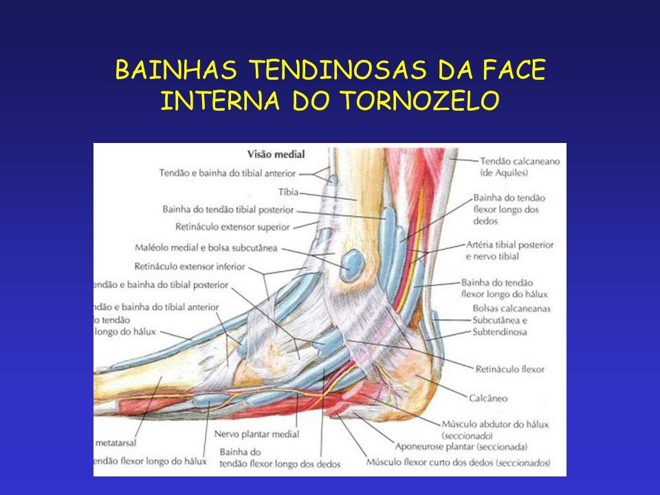 INSPEÇÃO ANTERIOR DO TORNOZELO