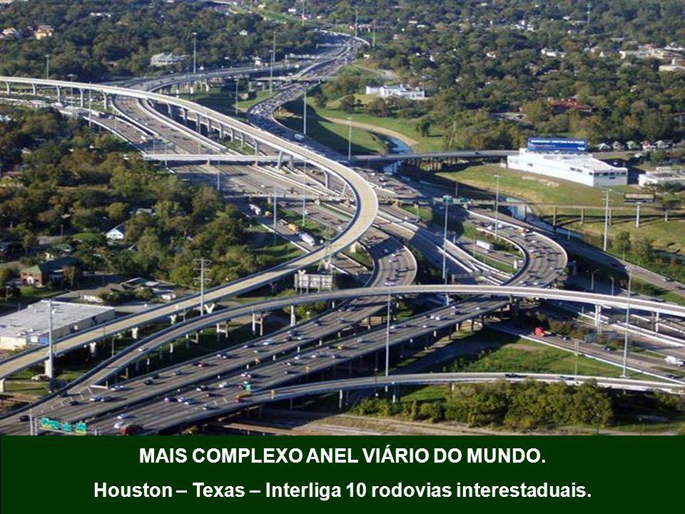 MAIS COMPLEXO ANEL VIÁRIO DO MUNDO. Houston – Texas – Interliga 10 rodovias interestaduais.