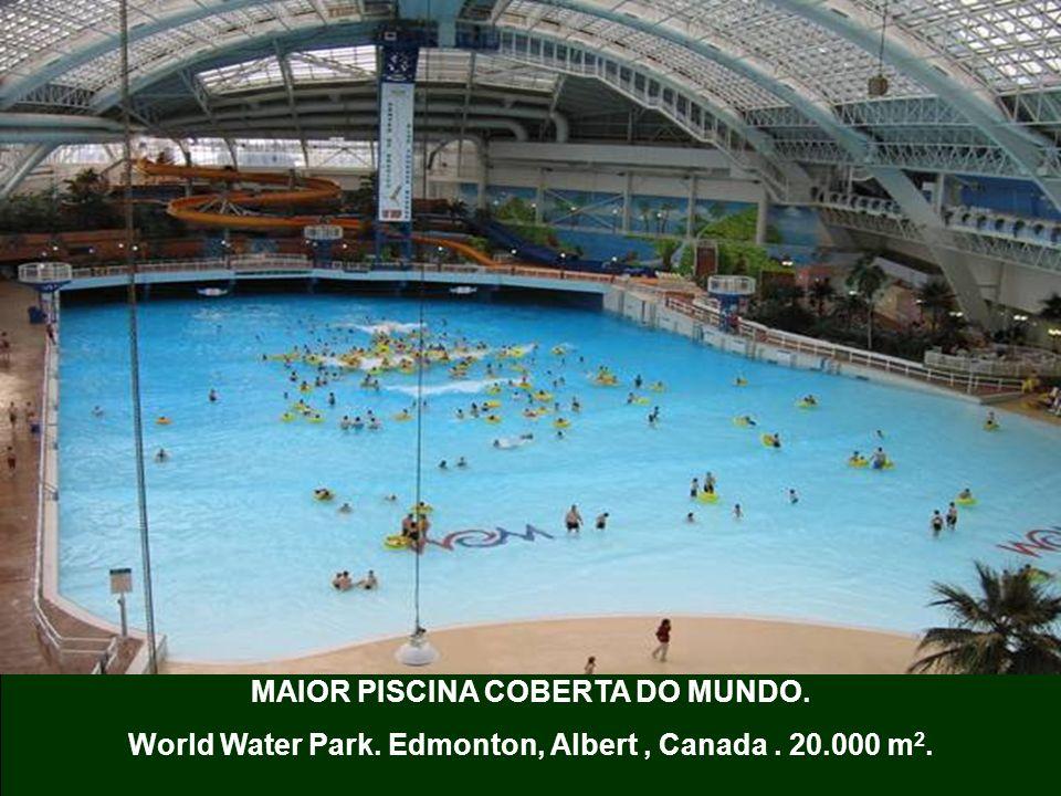 MAIOR PISCINA COBERTA DO MUNDO. World Water Park. Edmonton, Albert, Canada. 20.000 m 2.