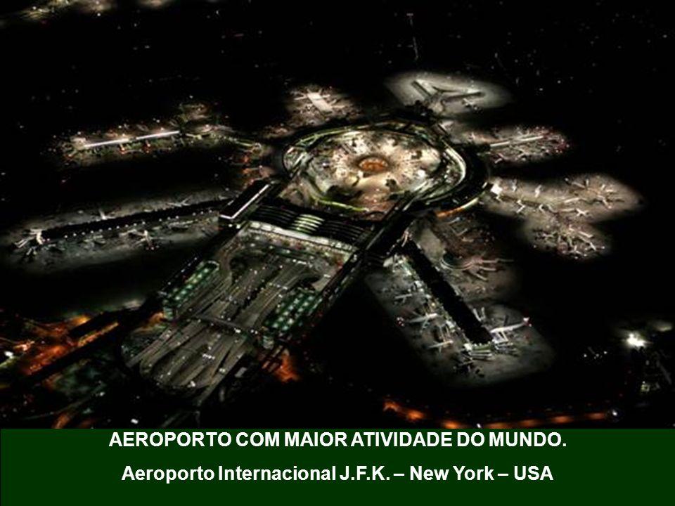 AEROPORTO COM MAIOR ATIVIDADE DO MUNDO. Aeroporto Internacional J.F.K. – New York – USA