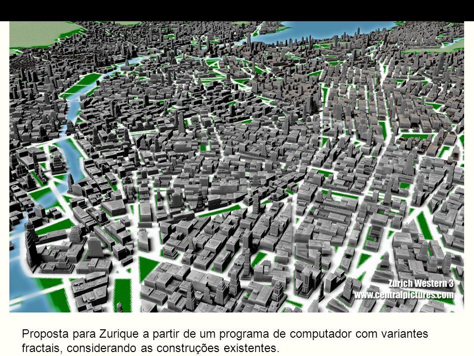 Proposta para Zurique a partir de um programa de computador com variantes fractais, considerando as construções existentes.