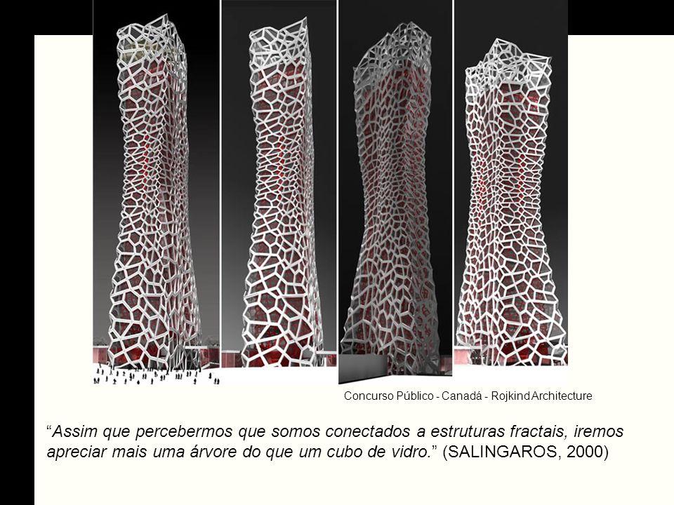 Assim que percebermos que somos conectados a estruturas fractais, iremos apreciar mais uma árvore do que um cubo de vidro. (SALINGAROS, 2000) Concurso