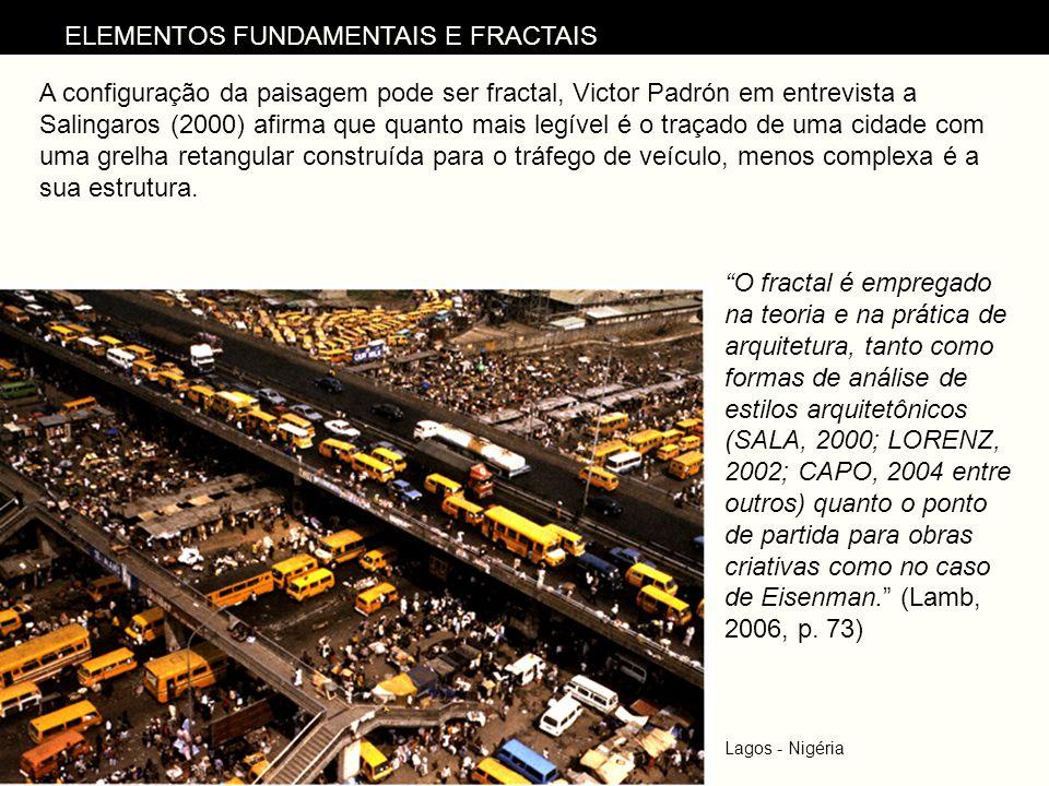 Lagos - Nigéria A configuração da paisagem pode ser fractal, Victor Padrón em entrevista a Salingaros (2000) afirma que quanto mais legível é o traçad