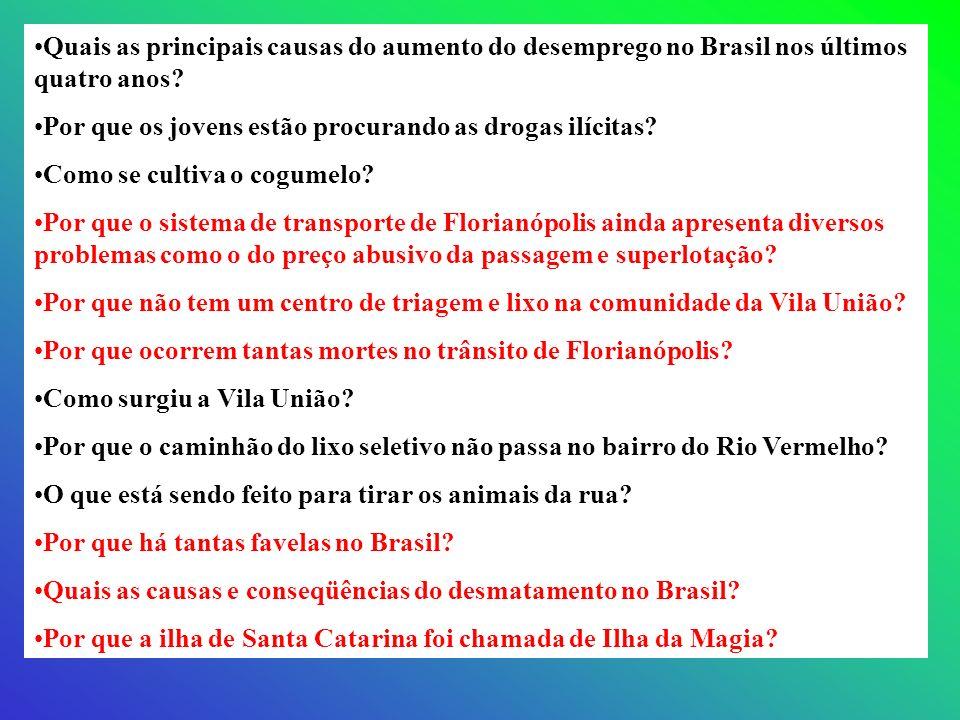Quais as principais causas do aumento do desemprego no Brasil nos últimos quatro anos?Quais as principais causas do aumento do desemprego no Brasil no