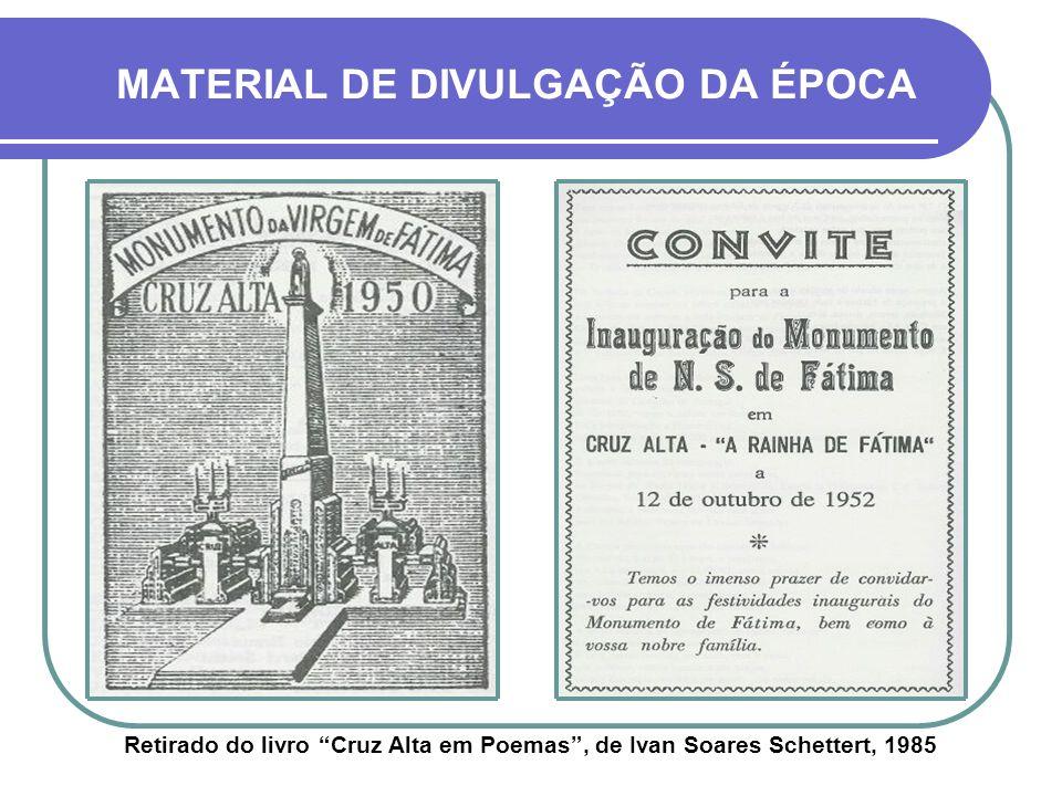 O MONUMENTO TEM 31 METROS DE ALTURA, INCLUINDO OS 6 METROS DA IMAGEM DÉCADA DE 1970HOJE