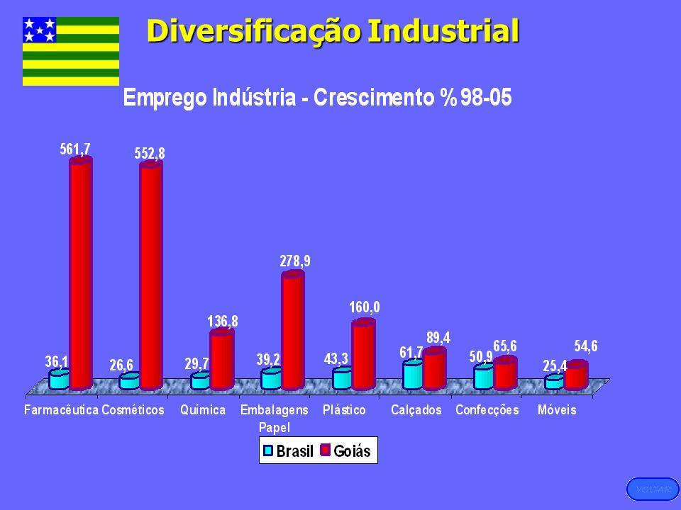 Fonte: RAIS-MTE, 2005 Diversificação Industrial