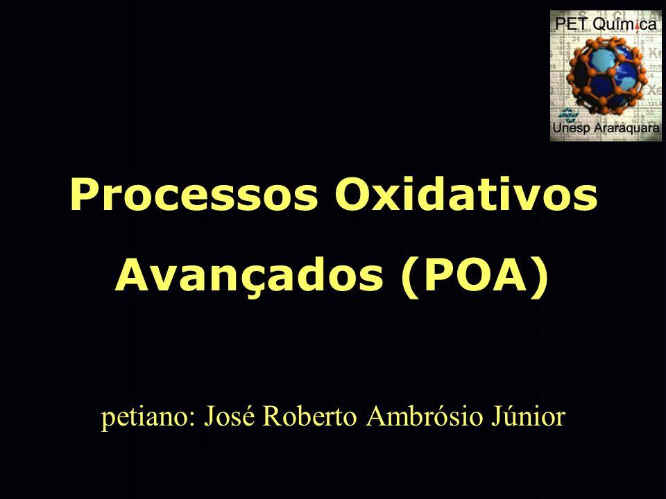 Processos Oxidativos Avançados (POA) petiano: José Roberto Ambrósio Júnior