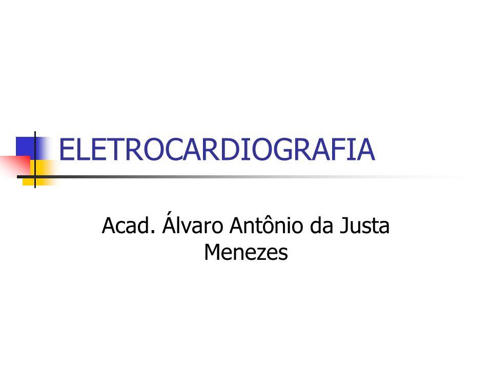 ELETROCARDIOGRAFIA Acad. Álvaro Antônio da Justa Menezes