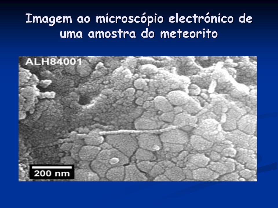 O mais intrigante mistério… Meteorito marciano ALH84001, encontrado na Antárctica, em 1984 Descobertos cristais magnetite Associados com minerais de c