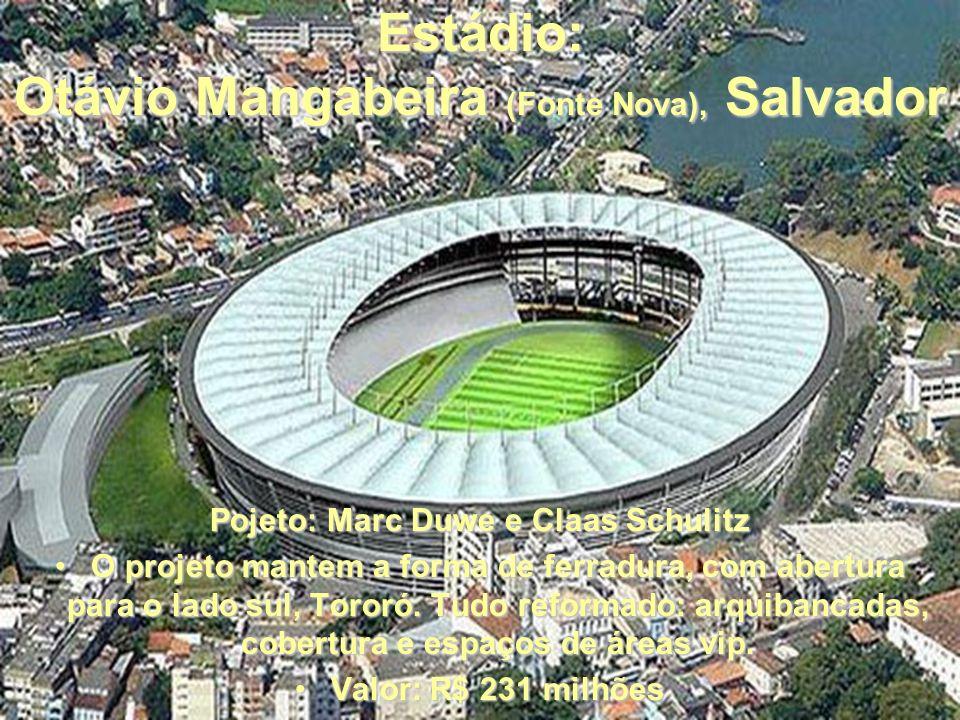 Estádio: Arena das Dunas, Natal Projeto: Coutinho, Diegues e Cordeiro O projeto prevê reurbanização, novo estádio e arena multiuso, hotéis, teatro, pr