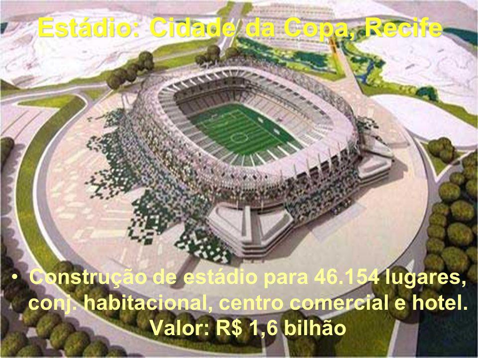 Estádio: Arena da Baixada, Curitiba Projeto: Vigliecca Associados Considerado o estádio mais moderno do Brasil. Modificações Copa de 2014: Aumenta a c
