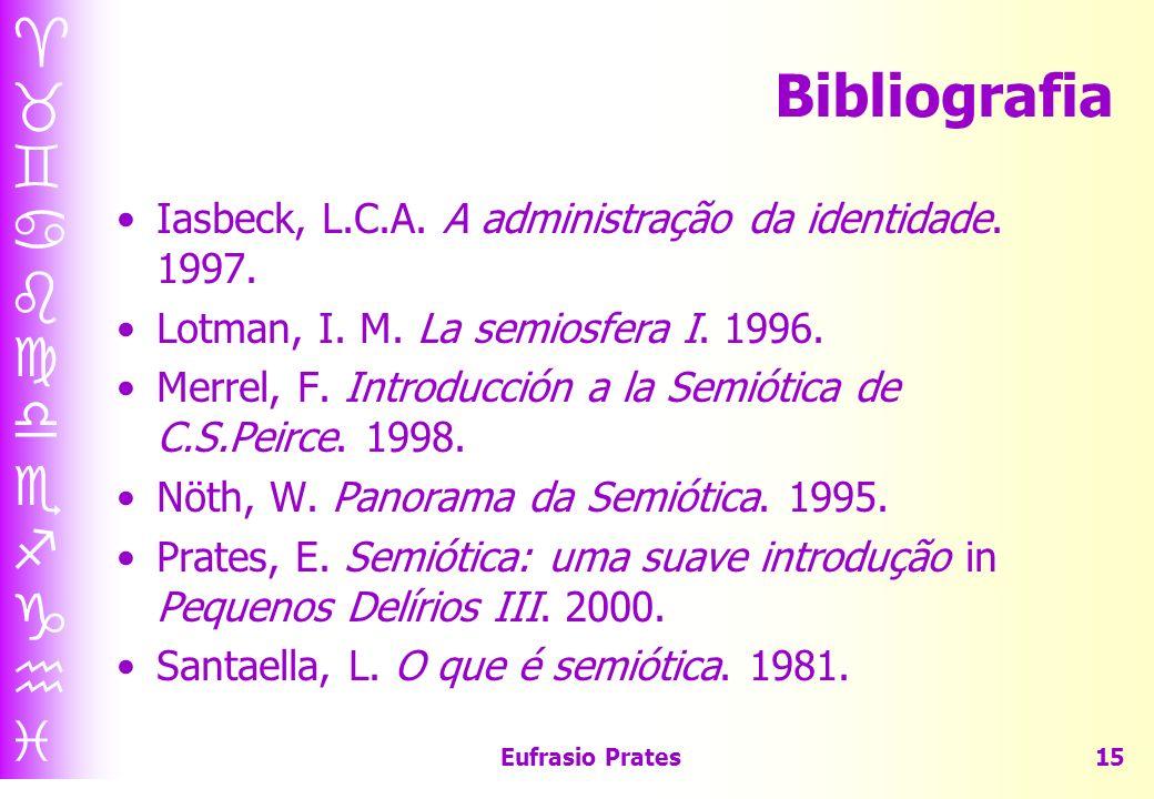 Eufrasio Prates15 Bibliografia Iasbeck, L.C.A.A administração da identidade.