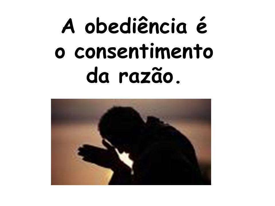 A obediência é o consentimento da razão.