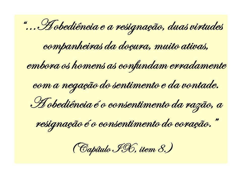 ...A obediência e a resignação, duas virtudes companheiras da doçura, muito ativas, embora os homens as confundam erradamente com a negação do sentime