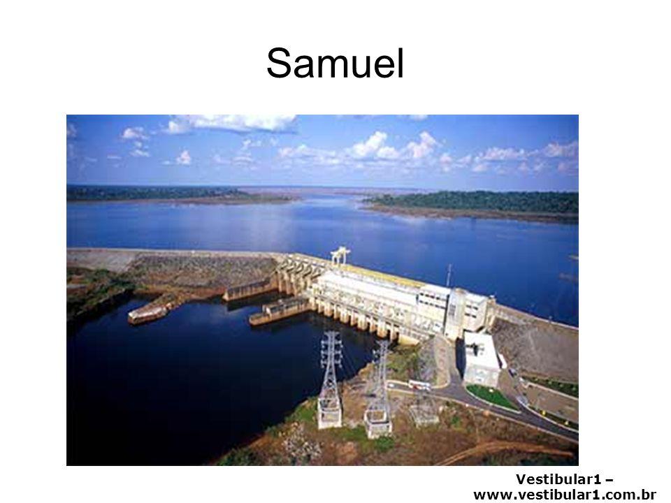 Vestibular1 – www.vestibular1.com.br TOCANTINS - ARAGUAIA Maior bacia totalmente brasileira Potencial hidroelétrico: terceiro do país perdendo para a Amazônica e Paraná.