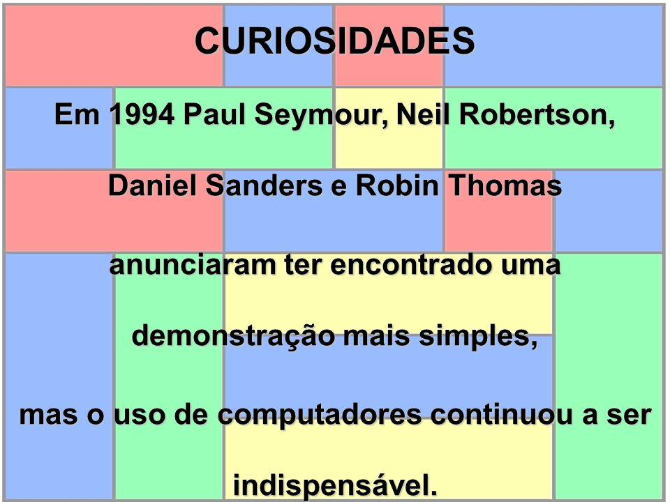 Em 1994 Paul Seymour, Neil Robertson, Daniel Sanders e Robin Thomas anunciaram ter encontrado uma demonstração mais simples, mas o uso de computadores
