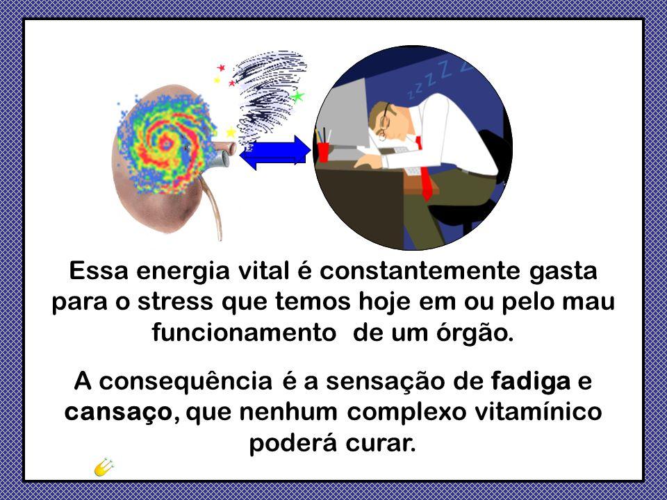 A consequência é a sensação de fadiga e cansaço, que nenhum complexo vitamínico poderá curar. Essa energia vital é constantemente gasta para o stress