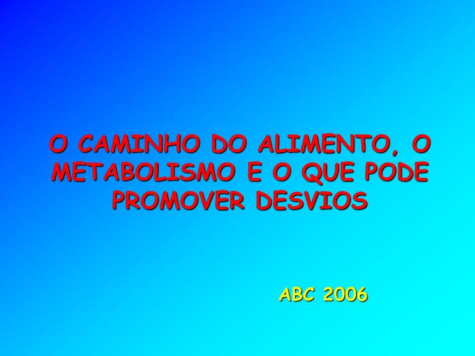 ABC 2006 O CAMINHO DO ALIMENTO, O METABOLISMO E O QUE PODE PROMOVER DESVIOS