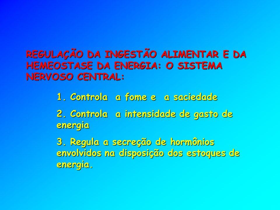 REGULAÇÃO DA INGESTÃO ALIMENTAR E DA HEMEOSTASE DA ENERGIA: O SISTEMA NERVOSO CENTRAL: 1.