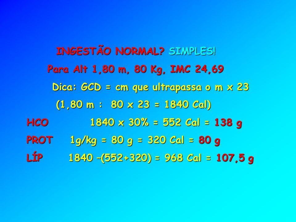 INGESTÃO NORMAL.SIMPLES. INGESTÃO NORMAL. SIMPLES.