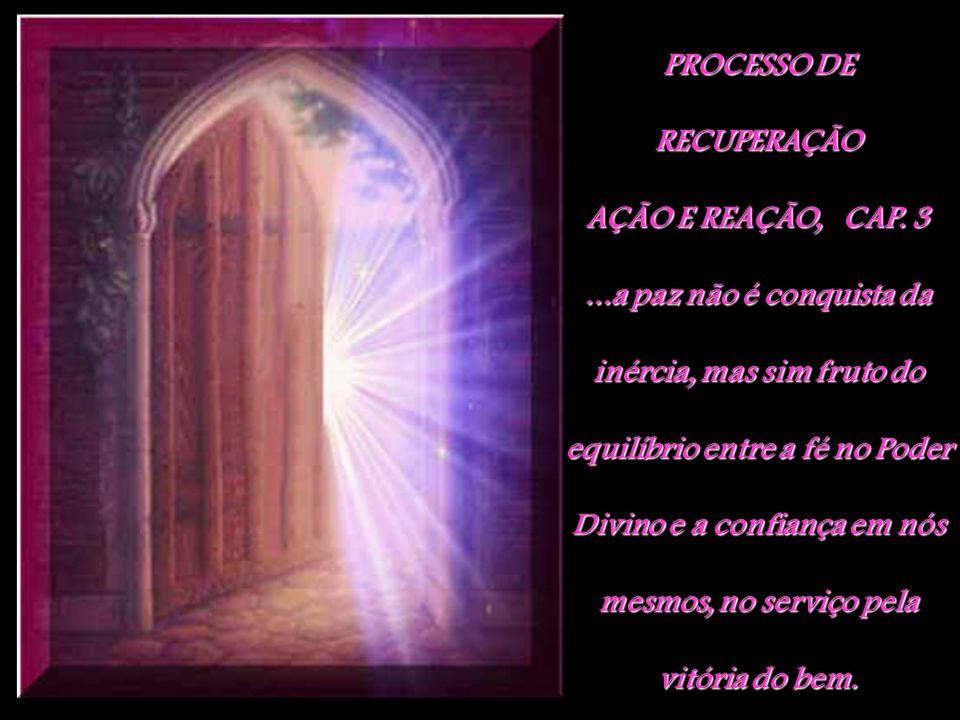 PROCESSO DE RECUPERAÇÃO AÇÃO E REAÇÃO, CAP. 3...a paz não é conquista da inércia, mas sim fruto do equilíbrio entre a fé no Poder Divino e a confiança