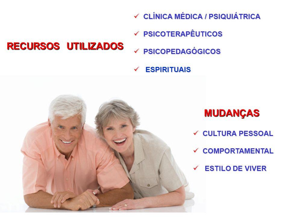 CLÍNICA MÉDICA / PSIQUIÁTRICA CLÍNICA MÉDICA / PSIQUIÁTRICA PSICOTERAPÊUTICOS PSICOTERAPÊUTICOS PSICOPEDAGÓGICOS PSICOPEDAGÓGICOS ESPIRITUAIS ESPIRITU