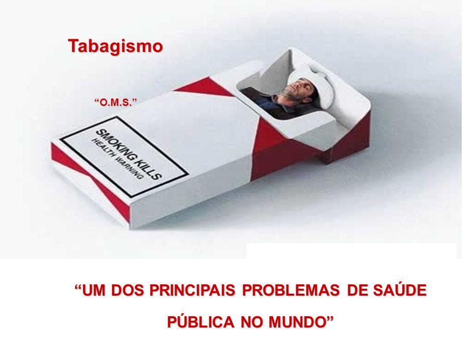 UM DOS PRINCIPAIS PROBLEMAS DE SAÚDE PÚBLICA NO MUNDO TabagismoO.M.S.