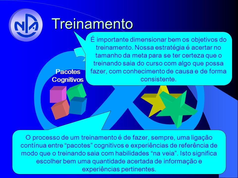Treinamento 8 Pacotes Cognitivos Experiências de Referencia É importante dimensionar bem os objetivos do treinamento.
