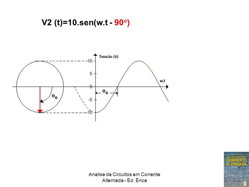 Analise de Circuitos em Corrente Alternada - Ed. Erica V2 (t)=10.sen(w.t - 90 o )