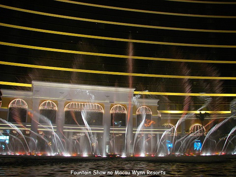 Fountain show no Macau Wynn Resorts