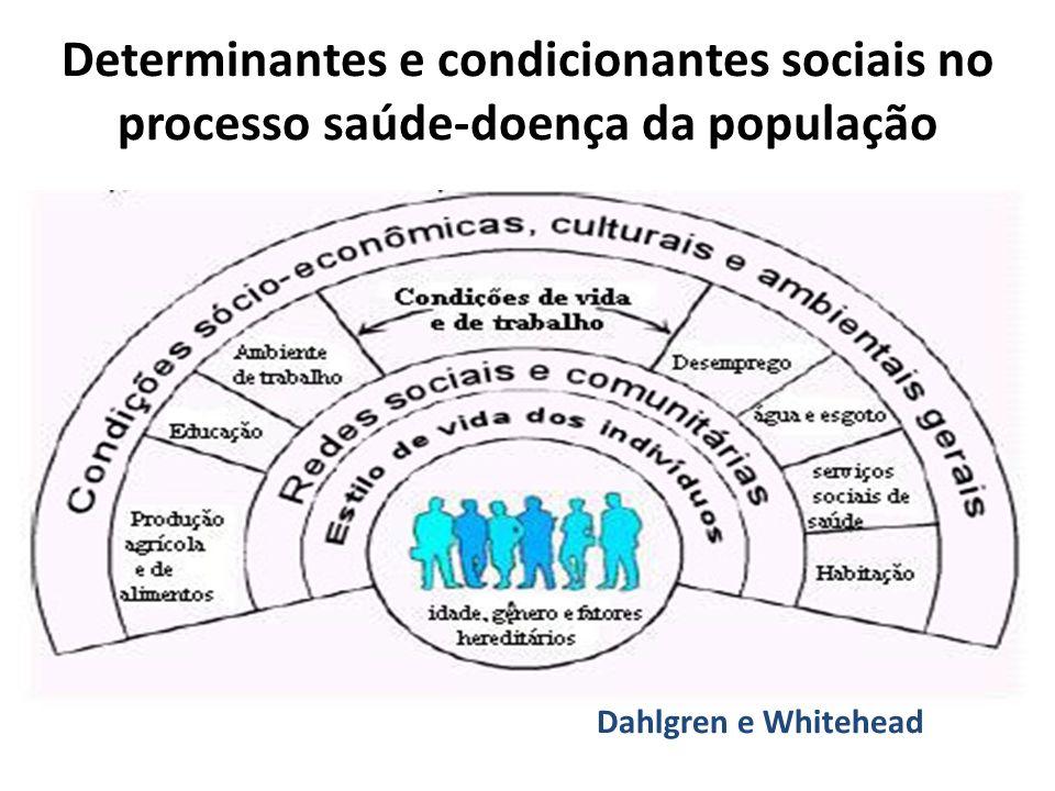 Dahlgren e Whitehead Determinantes e condicionantes sociais no processo saúde-doença da população