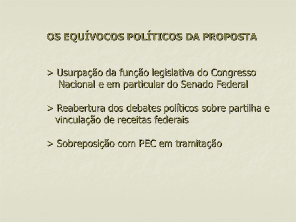 1. OS EQUÍVOCOS POLÍTICOS DA PROPOSTA > Usurpação da função legislativa do Congresso Nacional e em particular do Senado Federal > Reabertura dos debat
