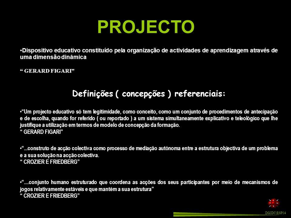 O trabalho de projecto é, portanto, o modo como um grupo, participando de uma ideia comum que tenta pôr em prática, organiza a sua actividade - conjunto das tarefas - de modo a conseguir aquilo que idealizou.