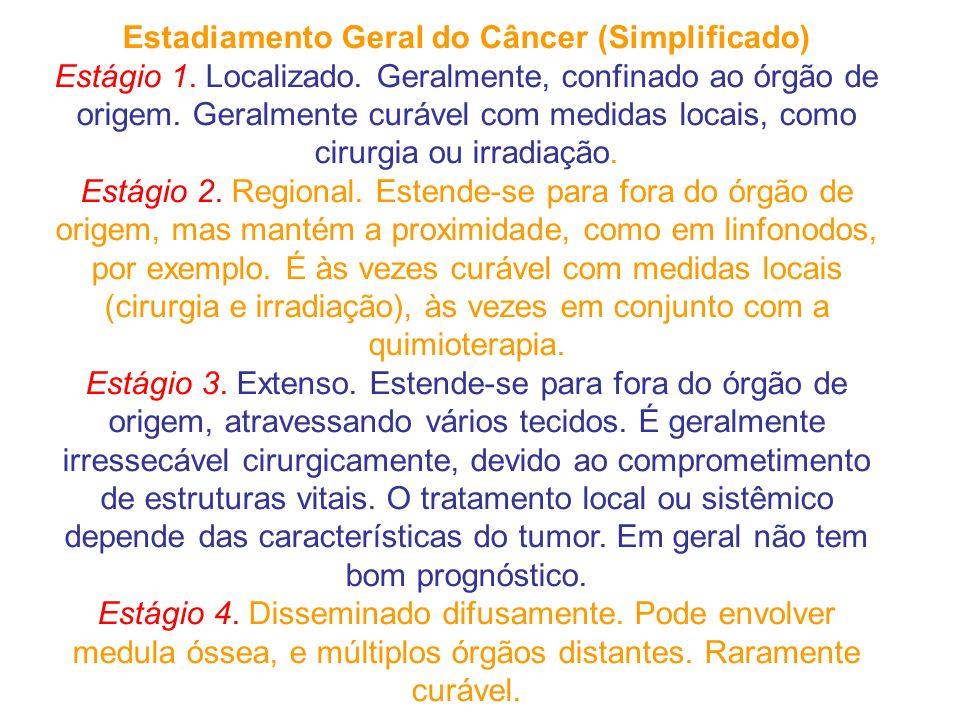 Estadiamento Geral do Câncer (Simplificado) Estágio 1.