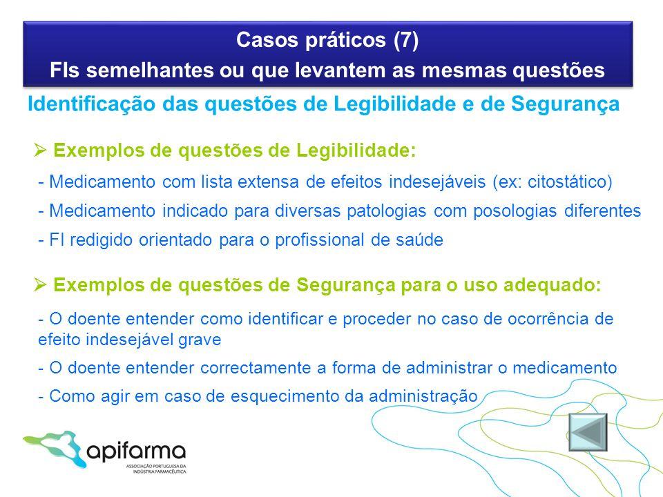 Casos práticos (7) FIs semelhantes ou que levantem as mesmas questões Casos práticos (7) FIs semelhantes ou que levantem as mesmas questões Identifica