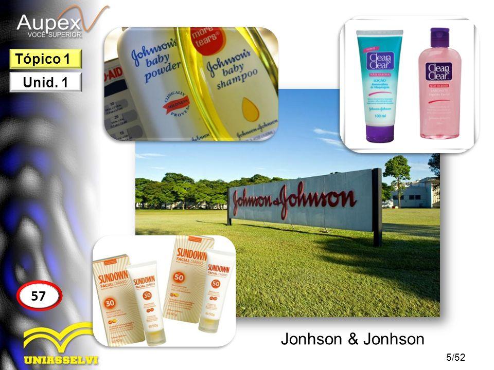 5/52 57 Tópico 1 Unid. 1 Jonhson & Jonhson