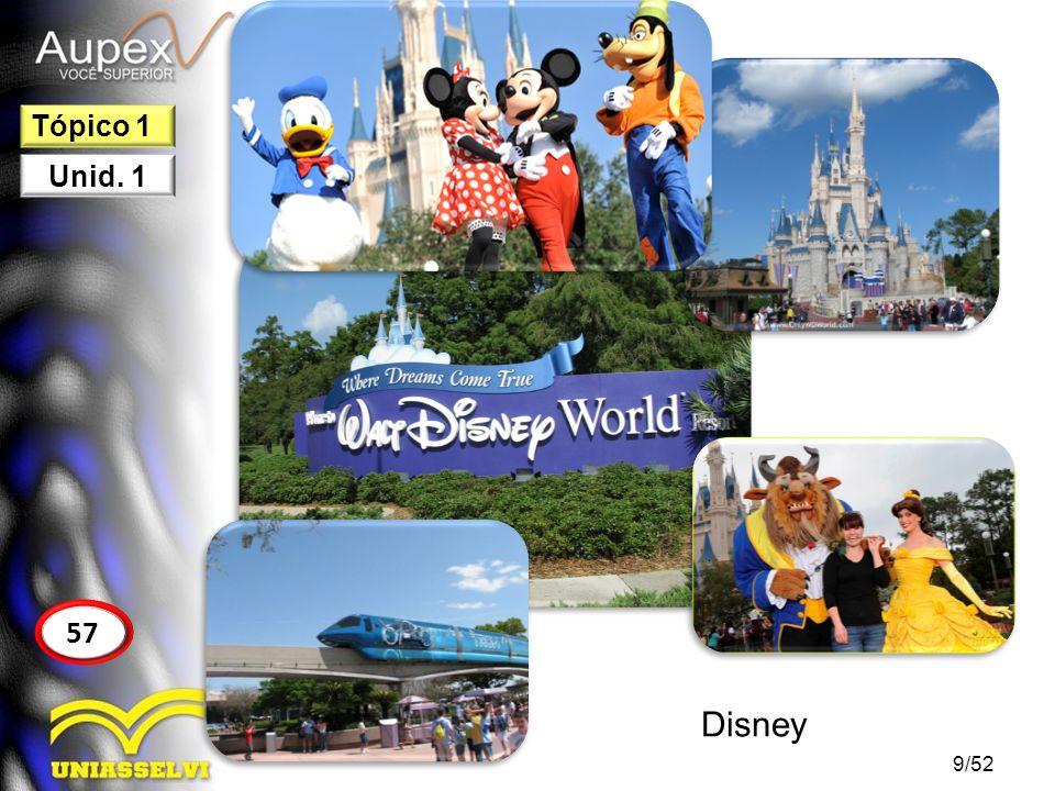9/52 57 Tópico 1 Unid. 1 Disney