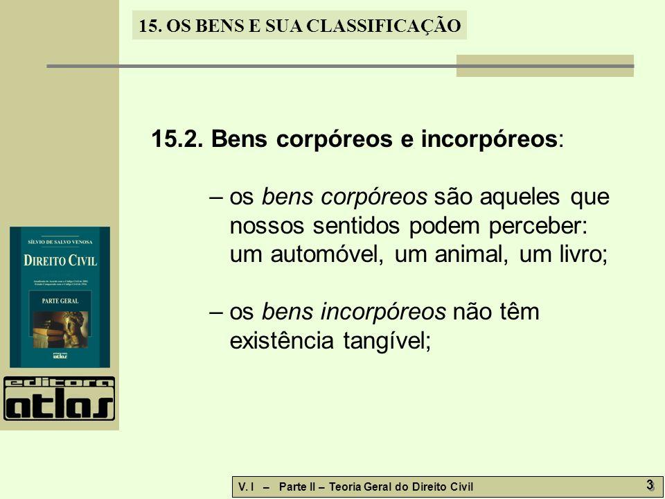 15.OS BENS E SUA CLASSIFICAÇÃO V.